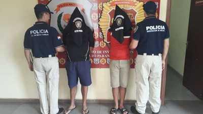 Detienen a dos peligrosos asaltantes denunciados por varios robos en CDE