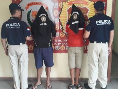 Capturan a dos presuntos asaltantes en Ciudad del Este