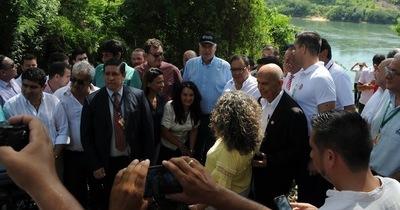 Autoridades recorren zona donde se va a construir el segundo puente