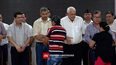 EBY ENTREGÓ MILLONARIOS APORTES A VARIOS SECTORES DE ITAPÚA.