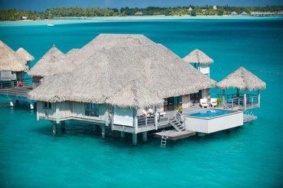 """Paraíso de los """"bungalows flotantes"""""""