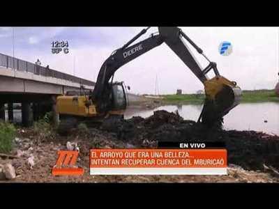 Inician trabajos para recuperar el arroyo Mburicaó