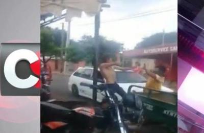 Fernando de la Mora: Pelea a ''machetazos'' entre vecinos fue captada en video