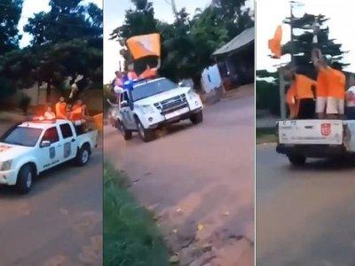 Cuestionan mal uso de una patrullera policial