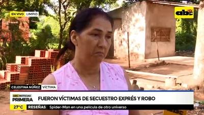Mujer narra cómo fue secuestrada y asaltada