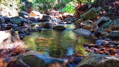 Las aguas curativas de un arroyo en Acahay