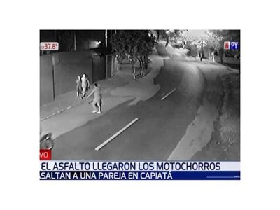 Motochorros asaltan a una pareja en Capiatá