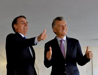 """Bolsonaro y Macri condenan """"dictadura"""" de Venezuela y se comprometen con Mercosur"""