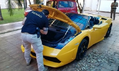 """Senad entrega Lamborghini y otros vehículos de """"Cucho"""""""