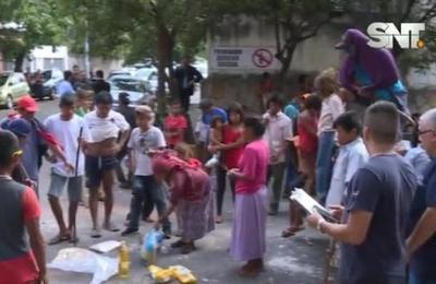 Incidentada protesta de indígenas