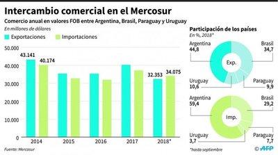 """Bolsonaro y Macri proponen un Mercosur """"enjuto, con relevancia"""""""