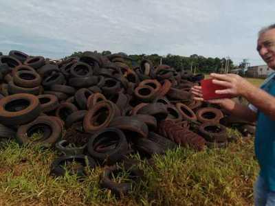 Hernandarias: proyectan reciclaje de neumáticos