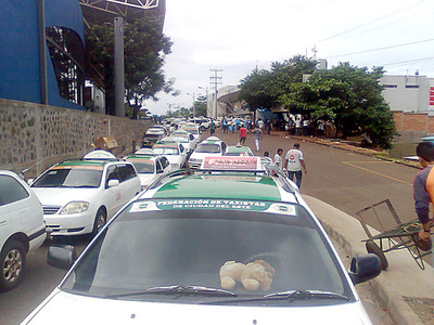 La recaudación de los taxistas cayó un 60% en Ciudad del Este