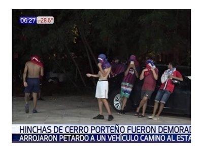 52 cerristas acabaron presos por lanzar cebollón a una camioneta