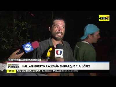 Hallan muerto a aleman en Parque C. A. López