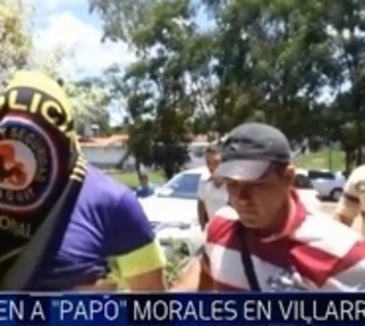 Detienen a 'Papo' Morales en hotel de Villarrica