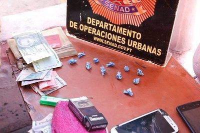 SENAD detiene a mujer que comercializaba crack en barrio Obrero