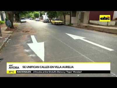 Se unifican calles en Villa Aurelia
