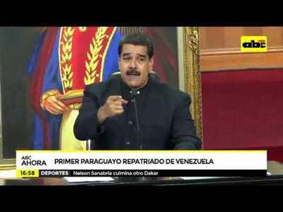 Primer paraguayo repatriado de Venezuela