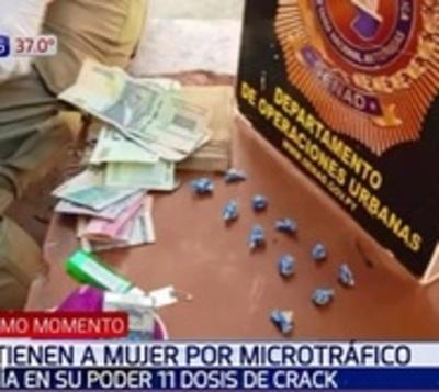 Detienen a mujer por microtráfico en Barrio Obrero