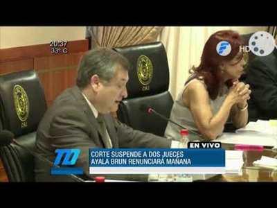 Ayala Brun presentará su renuncia tras suspensión de la Corte
