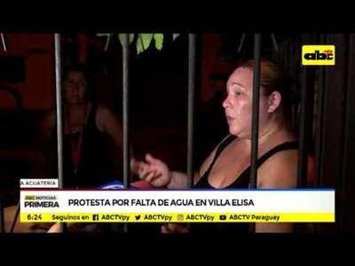 Protesta por falta de agua en Villa Elisa