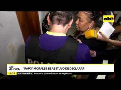 Papo Morales se abstuvo de declarar