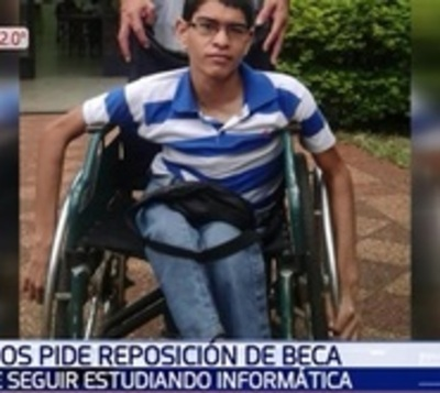 Joven pide que le devuelvan beca de Itaipú para terminar sus estudios