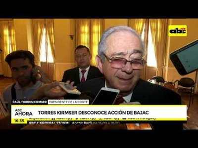 Torres Kirmser desconoce la actuación de Bajac
