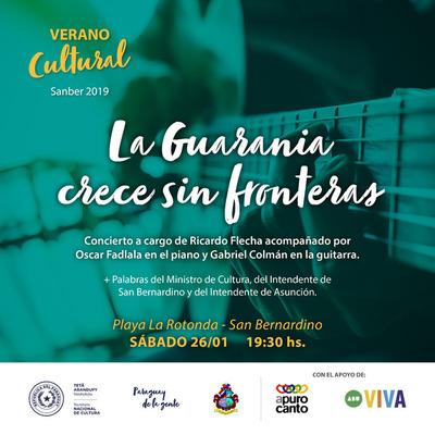 La Guarania será protagonista este sábado en el Verano Cultural Sanber 2019