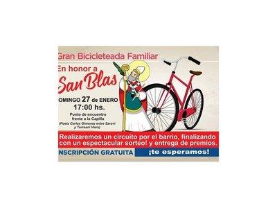 Organizan bicicleteada familiar por San Blas