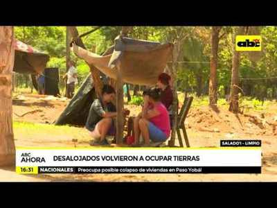 Desalojados volvieron a ocupar tierras