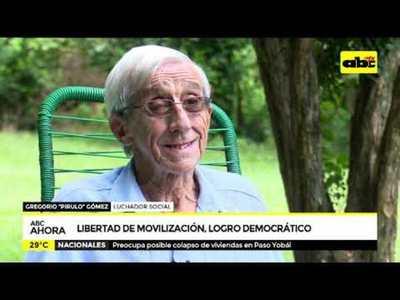 Libertad de movilización, logro democrático