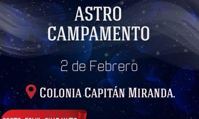 """Capitán Miranda será sede del """"Astro Campamento"""""""