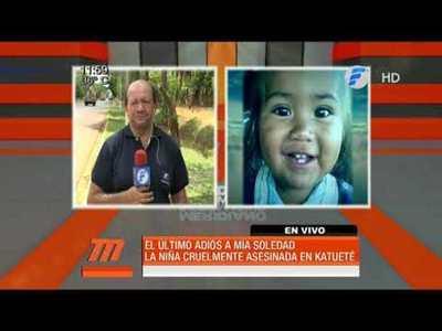 Triste despedida de Mía Soledad en Katueté