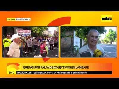 Quejas por falta de colectivo en Lambaré