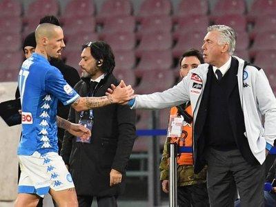 Napoli gana ante Sampdoria y Quagliarella no le quita el récord a Batistuta
