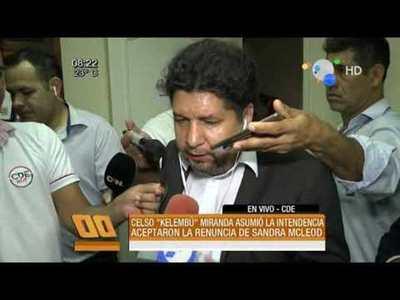 """Celso """"Kelembu"""" Miranda asumió la intendencia de CDE, tras un dudoso procedimiento"""