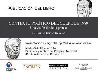 Libro sobre el papel de la prensa en el contexto del golpe del 89 se lanza este martes