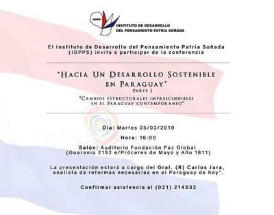 Conferencia sobre desarrollo sostenible en Paraguay