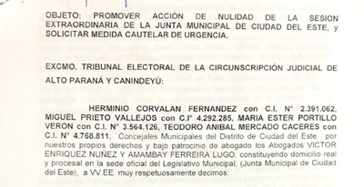 """Concejales piden nulidad de sesión """"mau"""" y solicitan medida cautelar"""