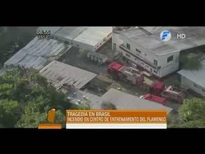 10 muertos en un incendio en el Club Flamengo de Brasil