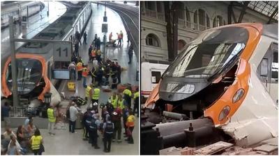 Chocan dos trenes en Barcelona: al menos un muerto y ocho heridos