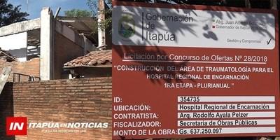 HOSPITAL CONTARÁ CON PABELLÓN DE TRAUMATOLOGÍA.
