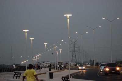 Con inauguración de sistema de iluminación la Costanera II se podrá usar las 24 horas