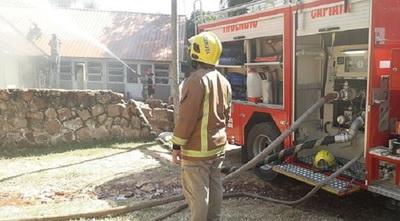 Hogar de niños se incendió en J. Augusto Saldívar