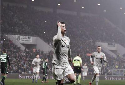El Juventus golea 3-0 al Sassuolo al ritmo de Cristiano