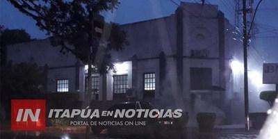 PRINCIPIO DE INCENDIO EN MEDIDOR DEL BANCO DE FOMENTO DE CORONEL BOGADO.