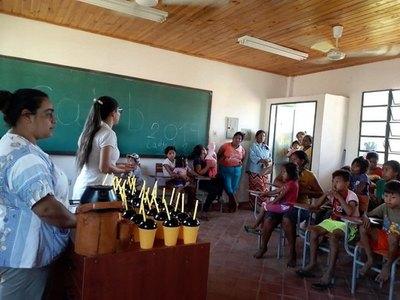 Salud armó club de niños en comunidad indígena Jerusalén