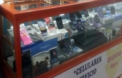 Gran operativo en conocido centro de ventas de teléfonos móviles